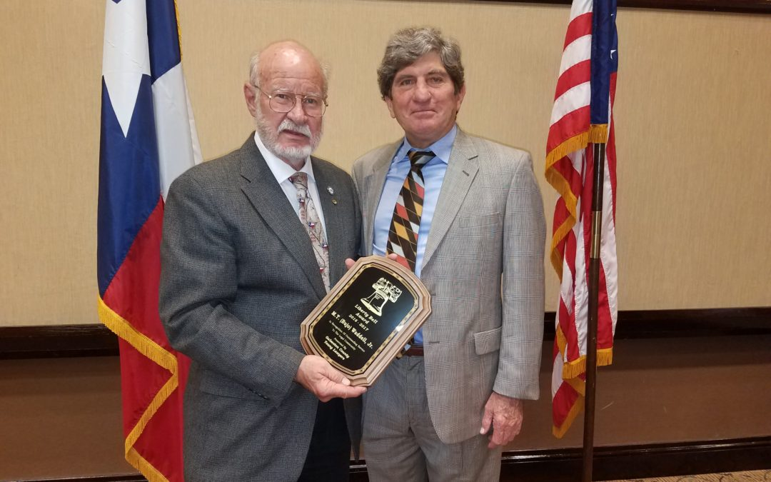 Galveston College's Waddell Receives Liberty Bell Award