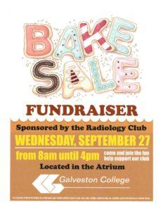 Radiography Club Bake Sale Flyer
