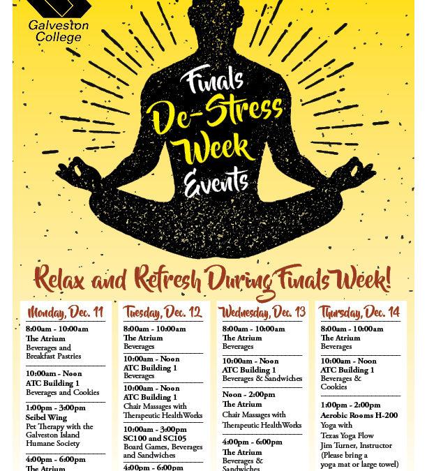 Finals Week De-Stress Events